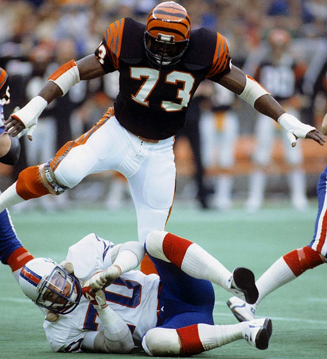 Edwards may have to introduce himself to most casual NFL fans, as his career spanned one of the more underwhelming eras in Bengals history. But don't be fooled by the rather pedestrian career total of 47.5 sacks. Most of Edwards' sacks came before they were an official statistic. The Bengals have Edwards' unofficial total at 83.5, and he was a terror to block in the late-1970s. Send comments to siwriters@simail.com.