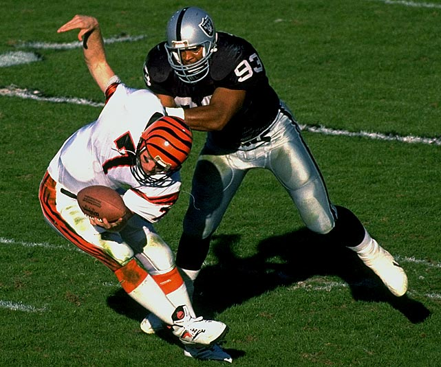 "He was a true Raiders legend, playing virtually his entire career in silver-and-black and epitomizing the proverbial ""Raiders way."" He was intense and unrelenting, finishing with 107.5 sacks in a Raiders uniform and being a part of a Super Bowl championship team."