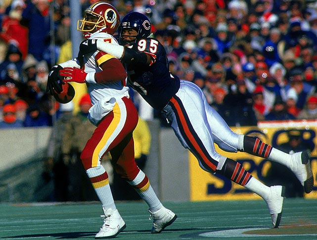 Michael Singletary and Dan Hampton were the stalwarts of the great Bears defenses of the mid-1980s, but no one made more big plays and wreaked more havoc than Dent, whose 124½ career sacks with the Bears topped Hampton and Steve McMichael. All you need to know about his production was he averaged more sacks per-game than Reggie White, Bruce Smith and Michael Strahan.