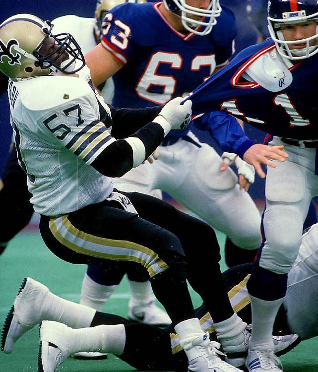 "Drew Brees may finally have put the once-woeful Saints franchise over the top, but it was Rickey Jackson and the ""Dome Patrol"" that made people take the Saints seriously. Jackson made a career of refusing to be overshadowed or overlooked, finishing with 115 Saints sacks and always being around the ball."
