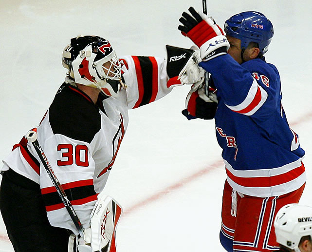 "During the 2007-08 season, Avery scores 15 goals as the Rangers go 33-14-10 with him in lineup, and 9-13-3 without him. During Game 3 of New York's first-round playoff series with New Jersey, the pest waves his stick in Martin Brodeur's face while the Devils try to defend a 5-on-3 that leads to a goal by ... Avery. The NHL promptly enacts ""The Avery Rule"" that awards an unsportsmanlike conduct minor penalty for such antics. ""It was childish,"" said Devils forward John Madden. ""We are trying to sell this game and you see stuff like that going on."""