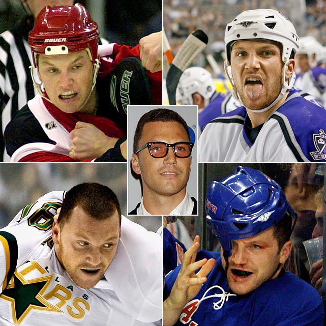 "The NHL's most notorious agitator's 10-year career is full of on-ice antics and off-ice imbroglios. ""I like to push it to the edge, no doubt about it,"" Sean Avery told ESPN in 2008.""That's how I play. That's how I live. That's what I'm all about."" He's a big hit on Broadway with New York Rangers fans, if not coach John Tortorella, but an odder hockey duck is hard to find. He's also a restaurateur, fashionista and gossip column staple. The gash on his lip landed him on  People  magazine's 2007 ""Sexiest Scars"" list. He's painted his fingernails to intimidate foes in hockey fights.""Some people question whether I'm straight; others give me compliments. Some women find it a turn-on,"" Avery wrote in his 2008 diary for  Vogue  magazine. ""My teammates are very supportive and cool about my interest in fashion -- sometimes they even ask for my advice on what to wear. But I'd be lying to you if I said that I don't take some verbal abuse from opposing players for the clothes I wear, or for my interest in something -- 'fashion' -- that I think sounds a little frightening to narrow-minded blockheads.""   The Sean Avery saga is ever unfolding. Here are the highlights (and lowlights)...so far."