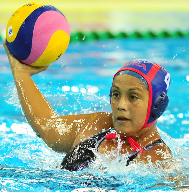 Three-time Olympic medalist in water polo.