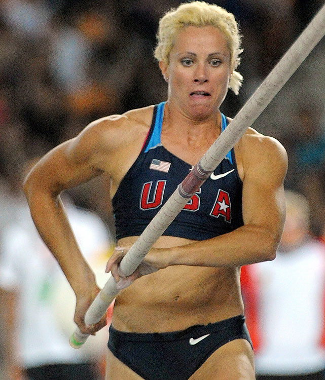 2008 Olympic silver medalist, American record holder in pole vault.