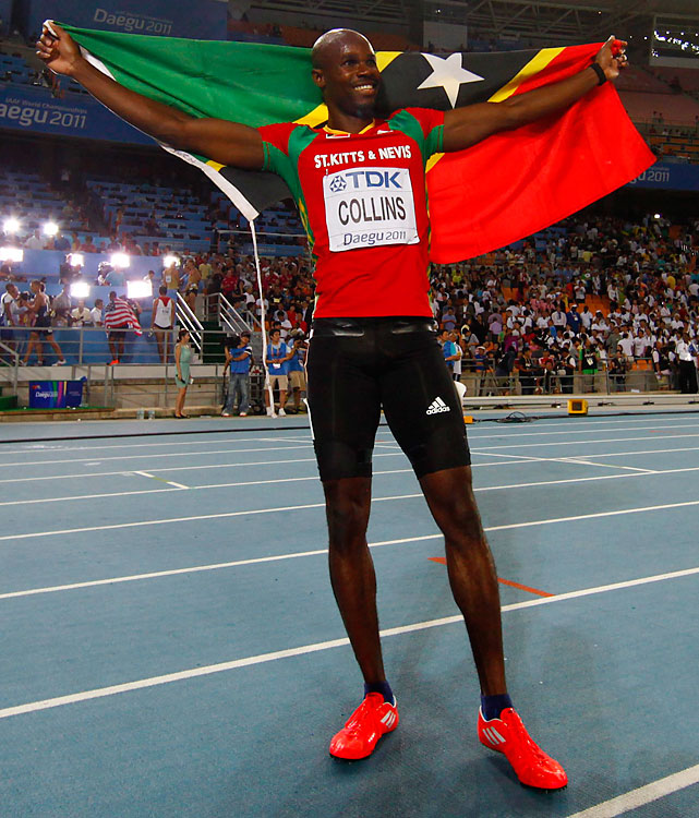 Five-time track and field world championship medalist. World champion in 100 meters in 2003.