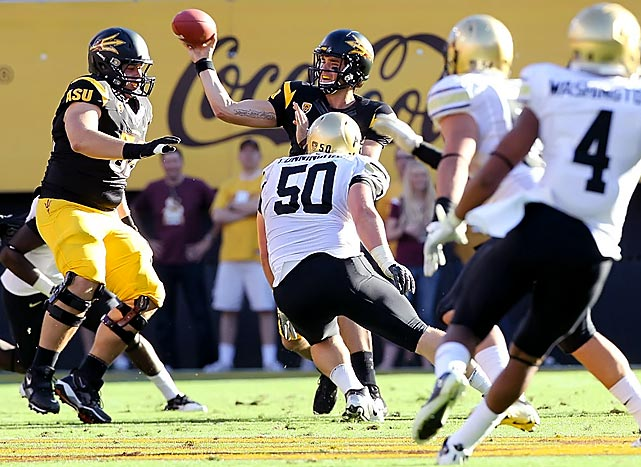 In control of the Pac-12 South, Arizona State couldn't afford a slip-up against an injury-riddled, 31-point underdog. Brock Osweiler threw for 307 yards and two touchdowns, Cameron Marshall added three scores on the ground and Arizona State (6-2, 4-1 Pac-12) routed conference newcomer Colorado.