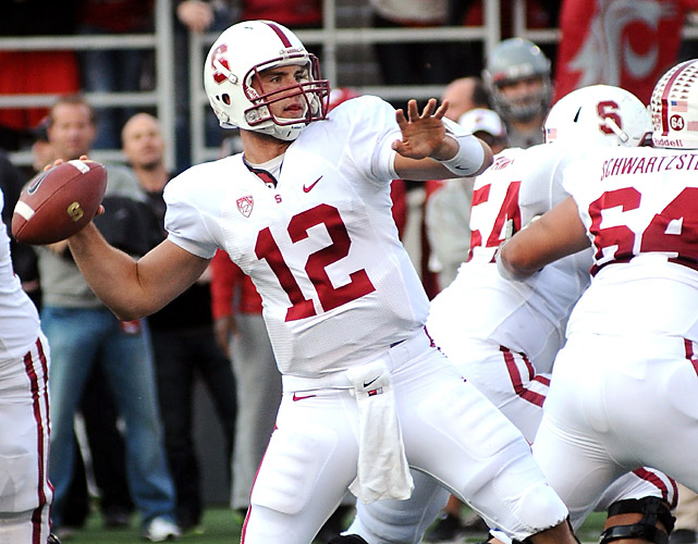 Andrew Luck (12) was pretty much able to do whatever he wanted, completing 23-of-36 passes for 336 yards and four touchdowns as the Cardinal improved to 6-0 overall and 4-0 in the Pac-12. Stepfan Tayloradded 100 rushing yards for Stanford, which plays host to Washington in a key conference test next Saturday night.