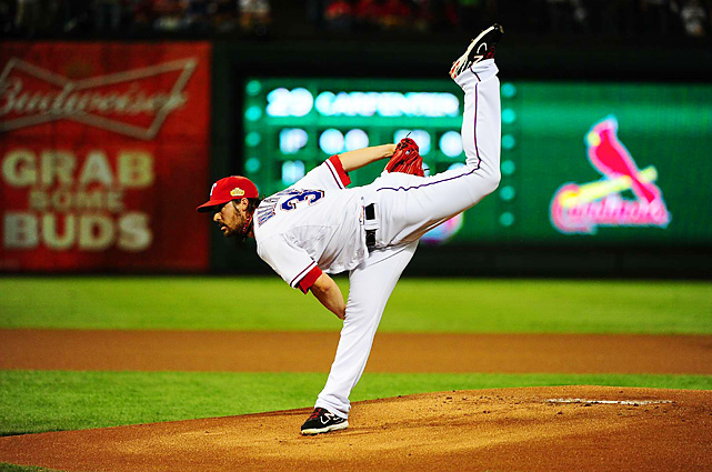 Rangers ace C.J. Wilson entered Game 5 with an 0-3 record and a 7.17 ERA this postseason. He was beaten by Carpenter in Game 1.