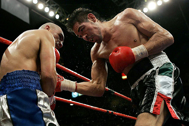 The bad blood between Miguel Cotto and Antonio Margarito, who fight on Dec. 3 at Madison Square Garden (9 p.m. ET, HBO PPV), stems back to when they first met at the MGM Grand in Las Vegas on July 26, 2008. Then, Cotto suffered his first career loss by 11th-round TKO, losing his WBA welterweight title. But the legitimacy of the result was thrown into question six months later, when Margarito was caught with loaded gloves before his subsequent fight with Shane Mosley. Here are some of the most memorable images from their first rumble, which was SI.com's Fight of the Year pick for 2008.
