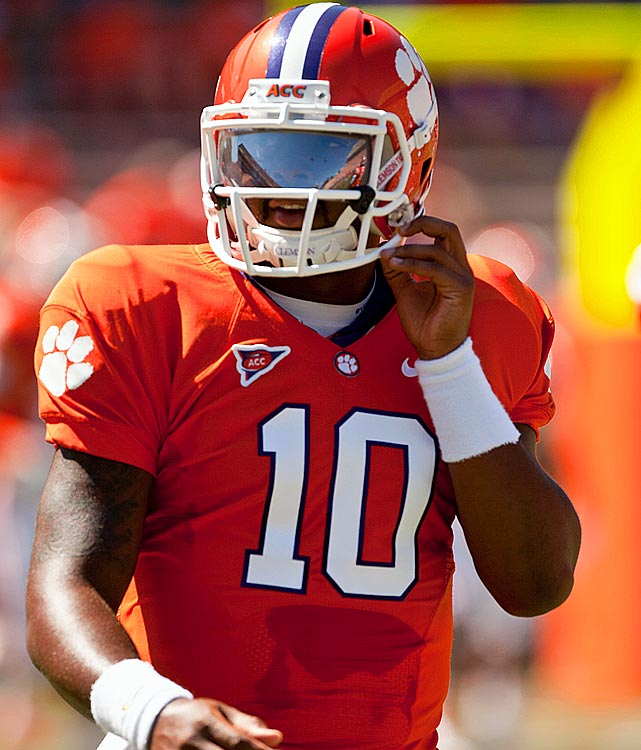 Last week:  Idle.   Season (nine games):  195-of-318 passing for 2,674 yards, 25 TDs and five INTs; 89 rushes for 164 yards and four TDs.  The Tigers are out of the title hunt, cooling the talk of Boyd's candidacy, but he remains one worth watching. Clemson can claim their second ACC Atlantic Division crown in three years with a win at Wake Forest, though this could be the start of Boyd setting himself up for a 2012 Heisman run. The push is to have him become  more of a dual threat , and we can expect offensive coordinator Chad Morris to try to begin Boyd's progression against the Deacons, who allowed 185 rushing yards in their last four games.   Next up:  Saturday vs. Wake Forest
