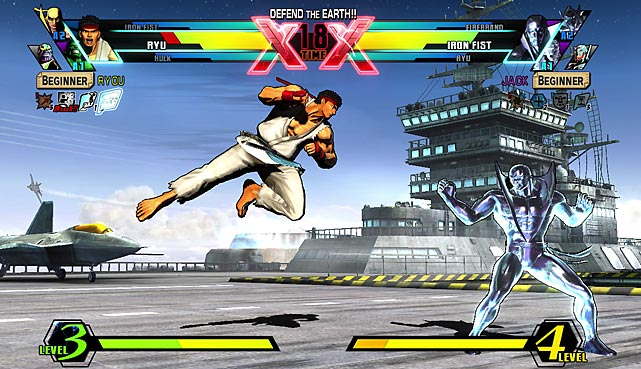 According to Capcom, this year's tsunami and earthquake in Japan forced the company to rethink its DLC strategy for Marvel Vs. Capcom 3: rather than adding characters, the game would see a full retail re-release at a $40 price point. The resulting game carries over the original's complement of 36 fighters, with a few gameplay tweaks, as 12 new fighters including Marvel favorites Ghost Rider and Hawkeye as well as Frank West from Capcom's Dead Rising and, hilariously, lawyer Phoenix Wright from the popular Nintendo DS legal simulations. Some of the original game's weaknesses have been significantly improved, including much better multiplayer networking code, and a few new single-player modes are included as well.  At its core, though, Ultimate MvC3 is exactly what you'd probably expect: a more polished and refined version of an insanely addictive, visually overwhelming game that fans have probably already bought. If you're a fighting fan, it's a must-own: there are scads of fighters and endless hours of multiplayer fun. If you already own and have played through the original game, it's a tougher call as to whether you'll want to dip in your pockets again.  Score: 8 out of 10