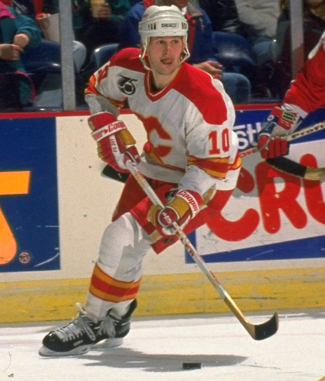 A neck injury could have ended Roberts' career at age 30 -- Roberts did announce a retirement -- but he came back and persevered to play through age 42. Roberts played for six teams, most notably the Flames, and incredibly went 11 years between All-Star appearances (1993-2004).