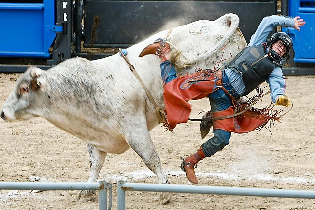 Prior to the Nascar Sprint Cup Texas 500 some rodeo action took place at Texas Motor Speedway in Fort Worth.