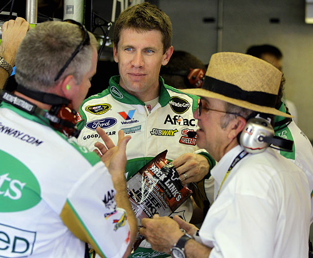 Through the first half of the season the speculation focused on where Carl Edwards would race in 2012. He was in the final year of a contract with Roush Fenway Racing and all indications pointed to him leaving to join Joe Gibbs Racing in 2012. But just a few days after the Brickyard 400 at Indianapolis, Edwards announced he was staying with team owner Jack Roush.