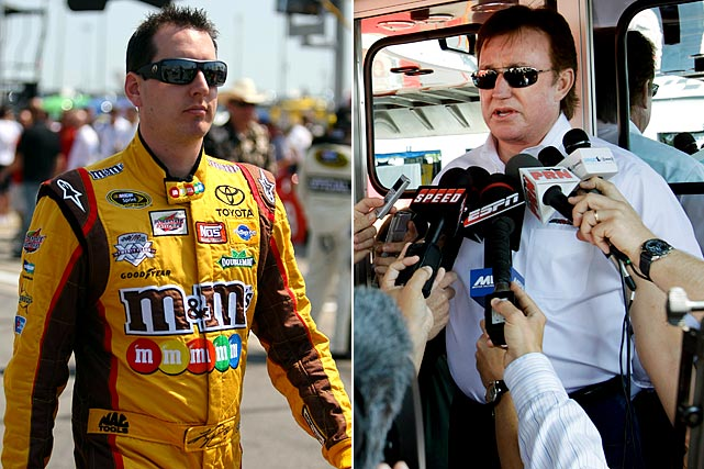 """First, Kyle Busch got in a rumble with Richard Childress Racing driver Kevin Harvick at Darlington in May that ended with Harvick attempting to take a few swings at Busch while seated in his race car. Afterward, Busch decided to dump Harvick's driver-less Chevrolet into the wall on pit road. And when Busch wrecked Joey Coulter in one of Richard Childress Racing's trucks in a NASCAR Camping World Truck Series race at Kansas, the 65-year-old team owner decided to take matters into his own hands. He put the 26-year-old Busch in a headlock and punched him several times in the head. NASCAR officials would fine Childress $150,000, but the team owner said it was """"worth every penny."""""""