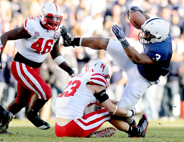 Brandon Beachum and the Penn State ground game totaled 166 rushing yards against Nebraska.
