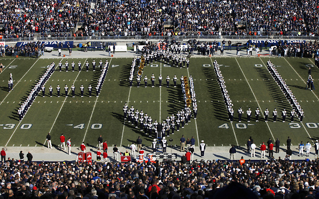 There was a moment of silence before the game in honor of the victims in the sex abuse scandal that has rocked Penn State and its football program.