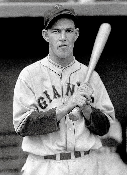 The Hall of Fame outfielder also managed the Giants from 1942 to '48. He won a World Series in 1933 and was elected to the Baseball Hall of Fame in 1951.