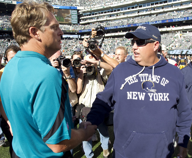 "<bold>""Jack Del Rio and myself are very similar except he's really good looking and was a great player. Other then that, we're very similar."" </bold> <italics>-- Nov. 2009, prior to Jets-Jaguars game. Ryan and Del Rio worked together on the Ravens' coaching staff from 1999-2001</italics>"