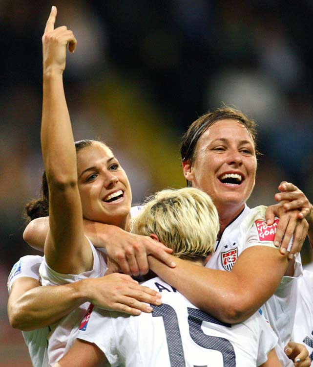 """The fact that (Abby Wambach) has been the focal point of the U.S. National Team's offense for the better part of a decade -- and has scored goals at a faster rate than legends Mia Hamm, Michelle Akers, Kristine Lilly and Tiffeny Milbrett -- when she's always the player opponents home in on is a testament to her once-in-a-lifetime talent. It's also why she's my choice for SI's Sportswoman of the Year.""    Click here to read more."