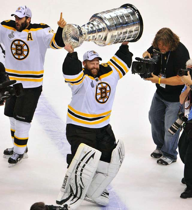 """(Tim) Thomas protected his net the way a troll guards his bridge. Based on sheer numbers -- not the least of which was the Bruins' ending a Cup drought of 39 years -- (Tim) Thomas might deserve consideration as SI's Sportsman of the Year. But SI's award also involves, you know, sportsmanship.""    Click here to read more."