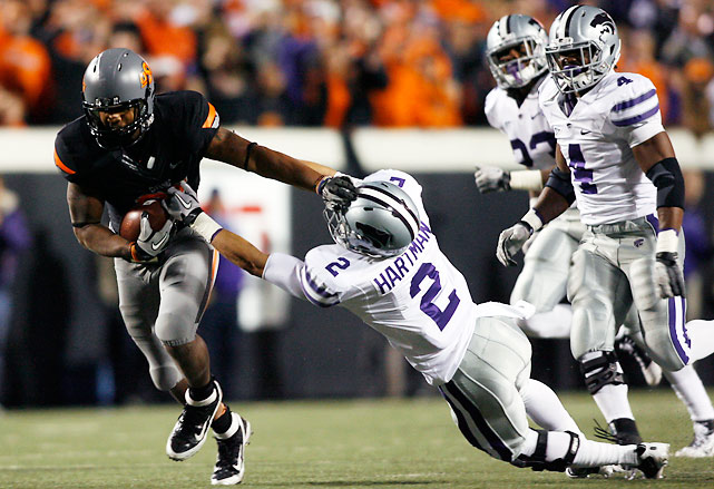 LSU-Alabama might have been the Game of the Year, but this was arguably the Game of the Night. Brandon Weeden threw for a school-record 502 yards and four touchdowns to help the Cowboys match their best start (9-0, 6-0) in school history. Kansas State had three shots at the end zone in the final 12 seconds, but failed to punch in the tying score.