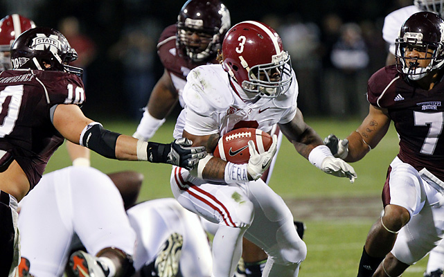 Trent Richardson rushed for 127 yards and a touchdown, Alabama's defense gave up just 131 total yards and the Crimson Tide beat the Bulldogs. It was a typical no-frills victory for Alabama (9-1, 6-1 Southeastern Conference), which has won nine of its last 11 against Mississippi State, including four straight.