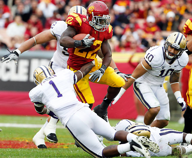 It was a career day for Curtis McNeal (pictured), who rushed for 148 yards and broke off a 79-yard touchdown dash. The Trojans improved to 8-2 overall and 5-2 in Pac-12 play, but are ineligible to play for the conference title.