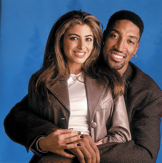 Scottie Pippen poses with his wife, Larsa, who he married in 1997. The couple, who have three sons and a daughter, can occasionally be seen on The Real Housewives of Miami, where Larsa is one of the featured wives.