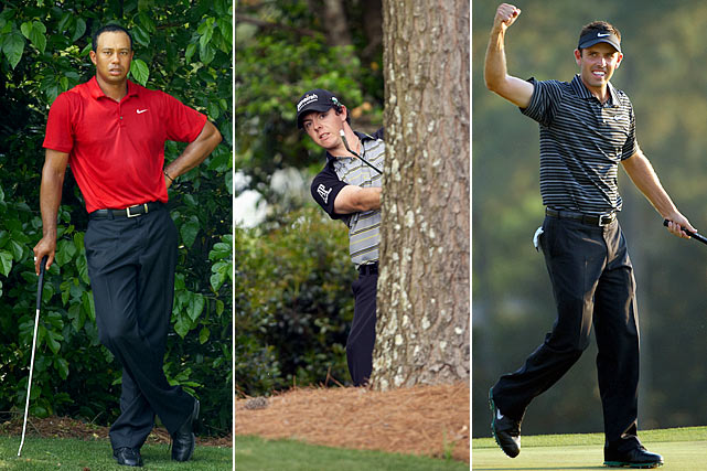 Sunday at Augusta was loaded with storylines. Tiger Woods had an eagle and four birdies in his first eight holes to tie for the lead, only to cool off on the back nine and finish tied for fourth. Rory McIlroy led by four entering the final round but melted down with an 80. And eight players had at least a piece of the lead on the back nine, including Charl Schwartzel, who became the first Masters winner to birdie the final four holes.