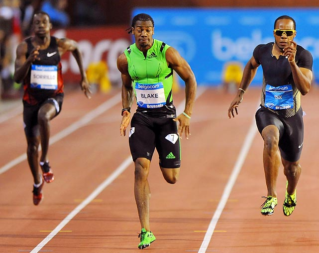 On a day when Usain Bolt ran the season's fastest 100 meters at 9.76 seconds, the spectacular sprinter was overshadowed by his Jamaican training partner. Yohan Blake ran 19.26 in the 200 meters at the Brussels meet, the second-fastest time in history and only 0.07 seconds behind Bolt's world record.