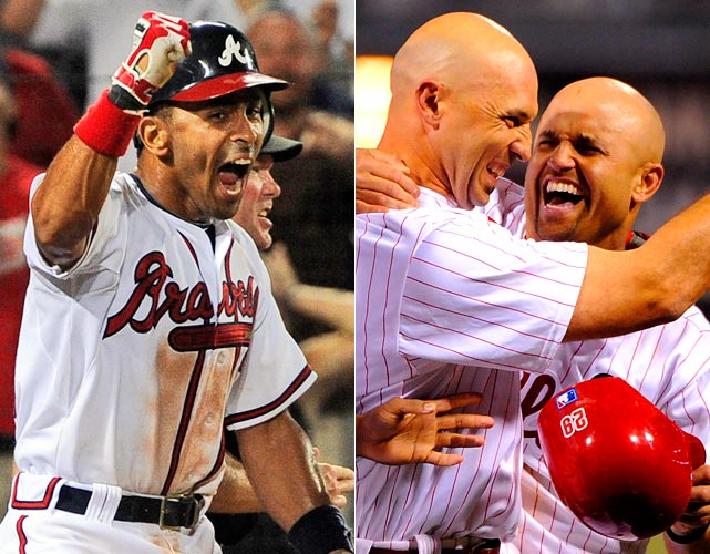 Two 19-inning marathons in MLB ended in dramatic fashion. First, on May 25, the Phillies outlasted the Reds when Raul Ibanez hit a sacrifice fly to make a winner of infielder Wilson Valdez, who tossed a scoreless 19th in his first big league pitching appearance. (Incidentally, on the same night the teams played for 6 hours and 11 minutes, Western Carolina and Elon played a 6-hour, 33-minute, 20-inning college game.) Two months later, on July 26, a 6-hour, 39-minute affair between the victorious Braves and Pirates ended on a controversial play at the plate that may be the tipping point for more instant replay in baseball.