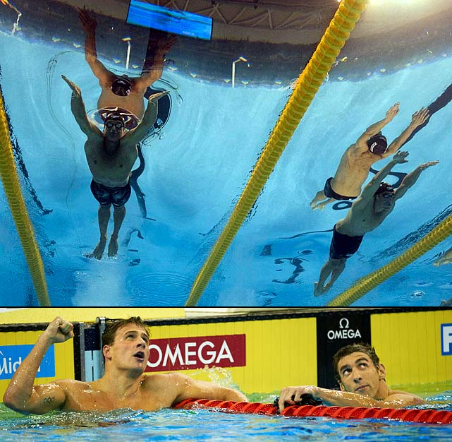 Lochte beat Phelps twice at the worlds in Shanghai, including in the 200 individual medley, where Lochte set the first world record in the post-high-tech swimsuit era with a time of 1:54.00, edging his American teammate by .16 seconds. Lochte finished the meet with six medals (five gold), while Phelps had four golds, two silvers and one bronze. Also in Shanghai, Americans Missy Franklin and Rebecca Soni led all women with three golds each.