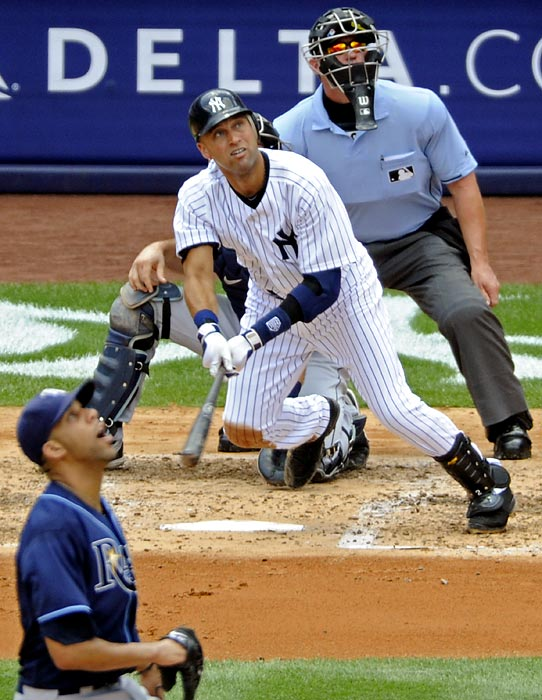 Derek Jeter has had a lot of good days in his Hall of Fame career, but nothing can compare to what he accomplished on the next-to-last day before the All-Star break. For just the second time in his career, Jeter picked up five hits, including the game-winner in the eighth. Oh, and he also smashed a long home run for his 3,000th career hit, making him the first Yankee to reach that milestone.