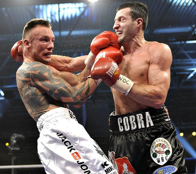 Kessler regains WBC title.  In one of the outstanding bouts of the year, Kessler, 42-2, rejuvenates his career -- and strengthens his standing in the Super Six tournament -- by edging Froch, 26-0, by unanimous decision. There is little to choose between the two (scores of 117-111, 116-112, and 115-113), but in the later rounds, Kessler is clearly invigorated by the crowd's support.