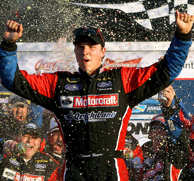 One day after his 20th birthday, Bayne became the youngest winner of the Daytona 500 -- in his second Sprint Cup start. Bayne didn't finish better than 15th in any of his other Spring Cup races this year, though he did get his first Nationwide victory on his 77th career attempt.