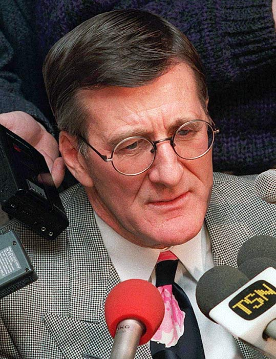 Alan Eagleson, a powerful agent and lawyer who served as head of the NHL Players Association for 25 years, resigned his post not long after published reports in September 1991 began to describe his shady deals, collusion with team owners and misuse of union funds. One client, former superstar Bobby Orr, found his personal finances had been mismanaged to near bankruptcy by Eagleson, who was charged in the U.S. in 1994 with 34 counts of racketeering, obstruction of justice, embezzlement and fraud. Canada followed with eight counts of fraud and theft in 1996. Eagleson later paid a $700,000 fine in the U.S. and served 18 months in a Canadian prison. He was also disbarred and forced to resign from the Hockey Hall of Fame, where he had been enshrined as a builder.