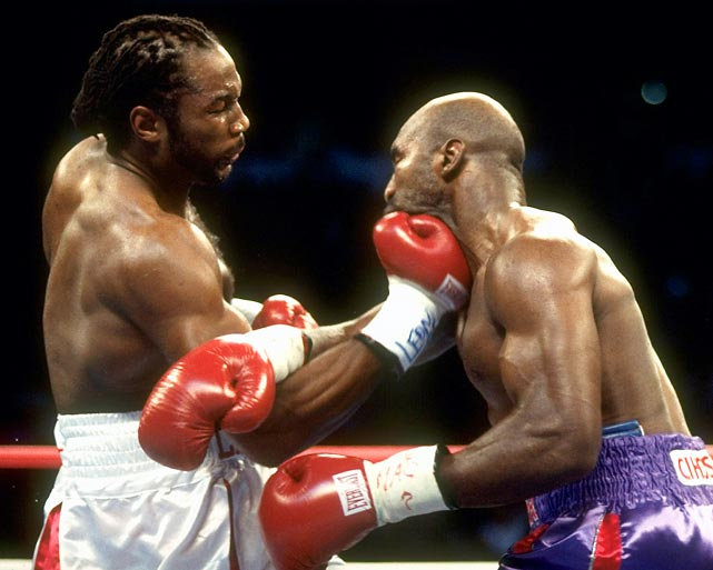 The finest heavyweight of his generation, Lewis defeated Evander Holyfield, Mike Tyson and Vitali Klitschko before exiting the sport as undisputed champion in 2003. He retired with a record of 41-2-1 and 32 knockouts, having avenged both losses in convincing fashion.