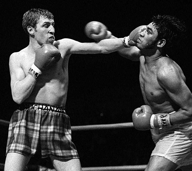 Buchanan defeated Ismael Laguna for the lightweight title in 1970 before losing it to Roberto Duran two years later at Madison Square Garden. He also scored victories over Carlos Hernandez, Carlos Ortiz and Jim Watt before retiring with a record of 61-8 with 27 KOs.