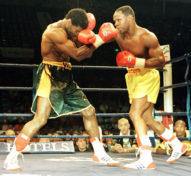 One of boxing's snappiest dressers, Eubank (right) held titles at middleweight (where he was undefeated) and super middleweight before retiring with a record of 45-5-2 and 23 knockouts.