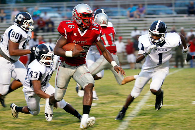 Possibly the unlikeliest member of the Top 15, Page climbed into the national spotlight after ousting a pair of traditional Carolina powers, Butler and Mallard Creek. It wasn't a fluke. N.C. State-bound quarterback James Summers (pictured) tallied 622 rushing yards, 434 passing yards and 15 total touchdowns in five playoff games.