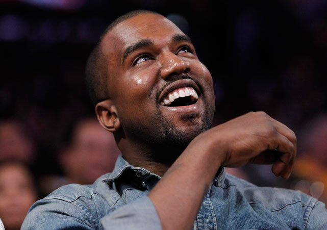 Chicago native and Grammy-winning rapper Kanye West seemed to enjoy watching the Bulls take down the Lakers.
