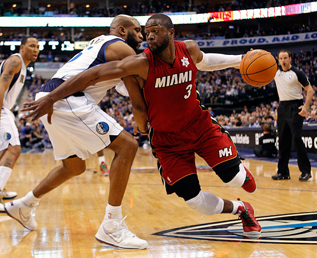 Dwyane Wade and James combined for 63 points and almost totaled the entire Dallas roster midway through the third quarter.