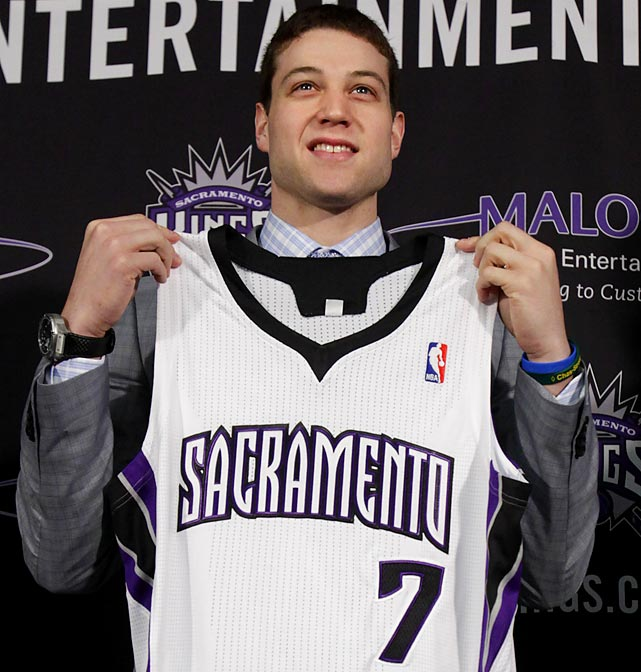 The Kings came very close to leaving Sacramento just a few months before selecting the 6-2 Fredette (No. 10 pick), and they now need to energize the fan base in ways that not only sell tickets but also lead to a long-overdue arena deal. That's the business appeal of drafting Fredette. As for basketball, he will be given a chance to not only score but also play a more conventional point guard role. His defense is very suspect, though, and it remains to be seen how he'll fit with third-year guard Tyreke Evans.