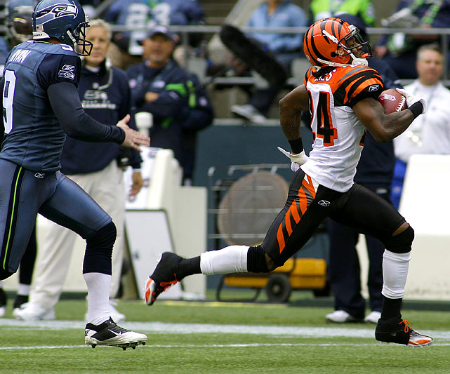 Pacman is best known for running into trouble with the law, but the Bengals cornerback has also been trouble for punt coverage teams when he's been healthy.