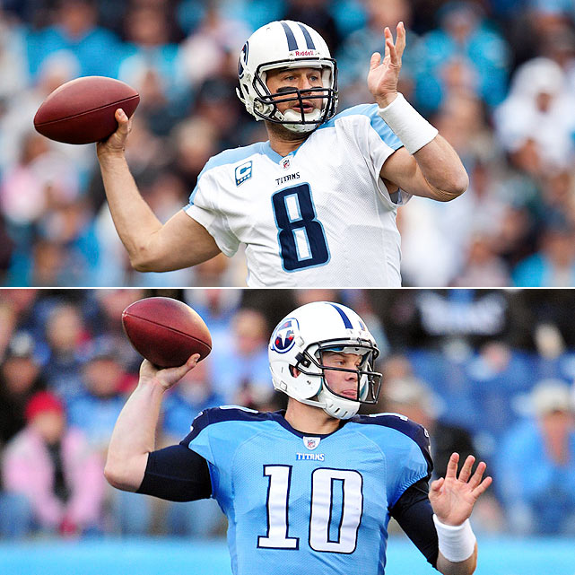 Hasselbeck:  14 GS, 2,924  yards, 15 TDs, 12 INTs, 15 SCKs  Locker:  0 GS, 542 yards, 4 TDs, 0 INTs, 5 SCKs