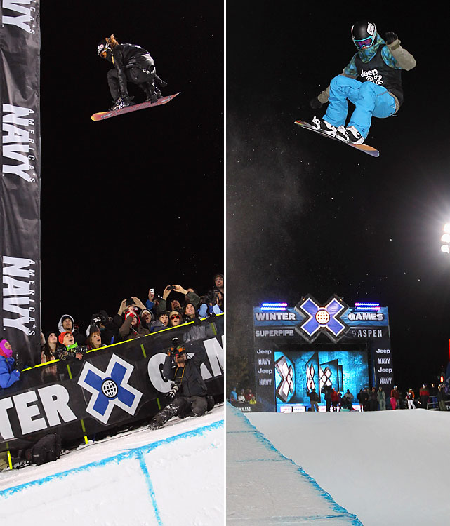 The Winter X Games in Aspen, Colo., proved both historic and emotional. Snowboarding's biggest stars shined in the marquee superpipe event as Shaun White (left) and Kelly Clark (right) took home gold. Clark became the first woman to land a frontside 1080. But the most poignant moments belonged to Kevin Pearce, who was on hand and even doing some TV work a little more than a year after he nearly died in a training accident that left him with severe head trauma. Pearce took his first trip down a mountain on a snowboard in 712 days on Dec. 13.