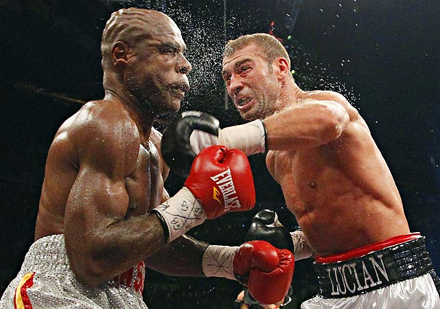IBF Super Middleweight champion Lucian Bute punches Glen Johnson during their title bout in November. The 31-year-old Bute won the fight to improve to 30-0.
