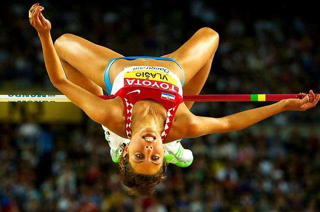 Croatian high-jumper Blanka Vlasic clears the bar at the 2011 World Championships in Daegu, South Korea. Daegu earned the silver medal, finishing just behind Russia's Anna Chicherova, who won first.