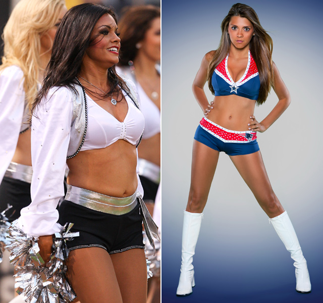 The daughters of Tony La Russa and Doug Flutie made NFL cheerleading squads this year. Alexa Flutie began her first season with the Patriots while Bianca La Russa earned a spot with the Raiderettes but had to stop dancing because of a back injury.